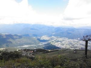 トレッキングコースから眺める白馬村