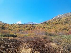 もうしばらくすると北アルプスの山々も真っ白な雪に覆われますね