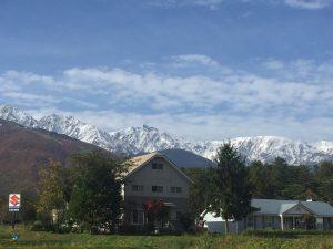北アルプス冠雪