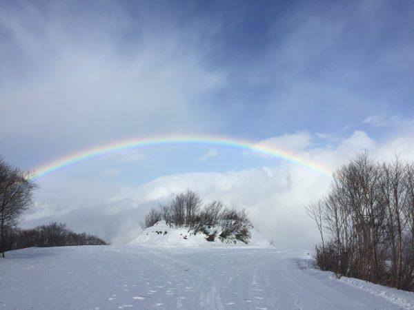 白馬五竜からきれいな虹