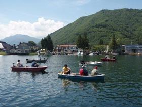 木崎湖でわかさぎ釣り