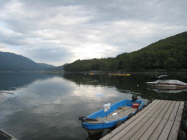 朝の木崎湖