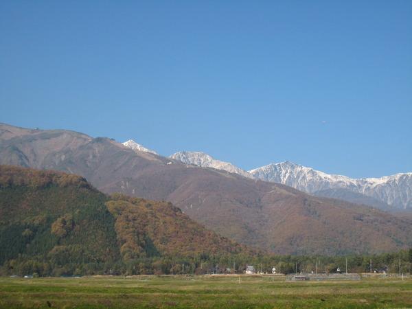紅葉と白馬三山
