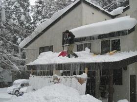 今年2回目の屋根雪下ろし