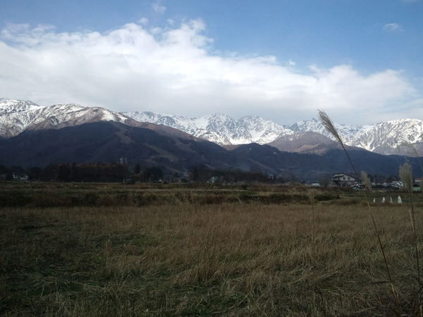 本日の「白馬三山」