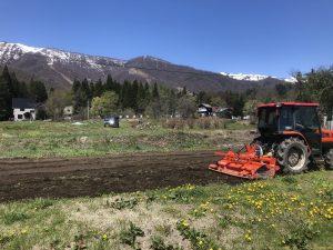 本格的な耕運機で耕してもらいます。