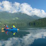 透明度抜群「青木湖」カナディアンカヌー